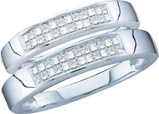 Two Piece Wedding Set 14K White Gold 1.00 ct. GD-15263