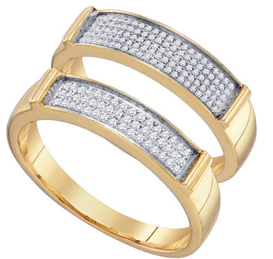 Two Piece Wedding Set 10K Yellow Gold 0.34 cts. GD-66908
