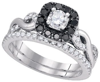 Black Diamond Two Piece Set 14K White Gold 1.00 ct. GD-86881
