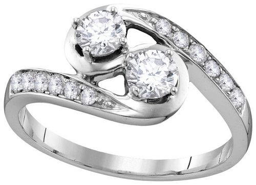 Ladies Diamond Engagement Ring 10K Gold 0.63 cts. GD-112136