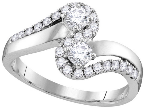 Ladies Diamond Engagement Ring 10K Gold 0.75 cts. GD-112138