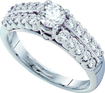 Ladies Diamond Engagement Ring 14K White Gold 0.99 cts. GD-39463
