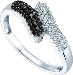 Black Diamond Fashion Ring 14K White Gold 0.25 cts. GD-51077