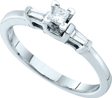 Ladies Diamond Engagement Ring 14K White Gold 0.19 cts. GD-52546