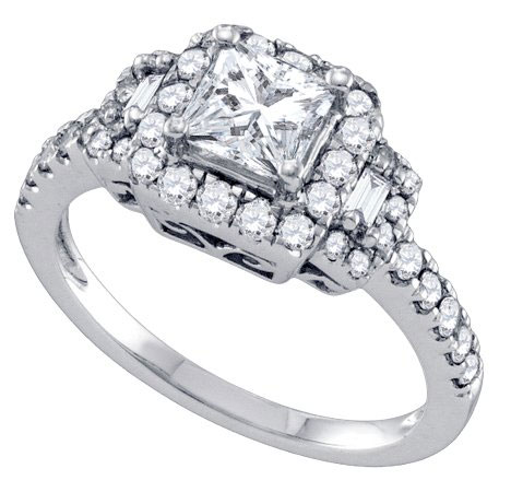 Diamond Engagement Ring 14K White Gold 1.25 cts. GD-69173