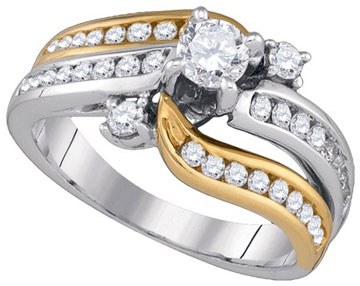 Ladies Diamond Engagement Ring 14K Gold 1.00 ct. GD-86711