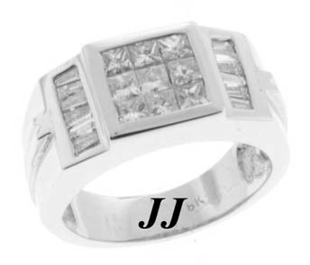 Men's Diamond Ring 18K White Gold 2.31 cts. 6J4136