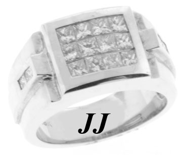 Men's Diamond Ring 18K White Gold 2.24 cts. 6J6286