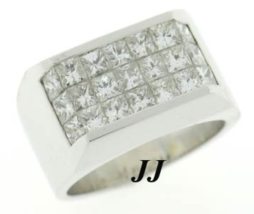 Men's Diamond Ring 18K White Gold 4.80 cts. 6J6461