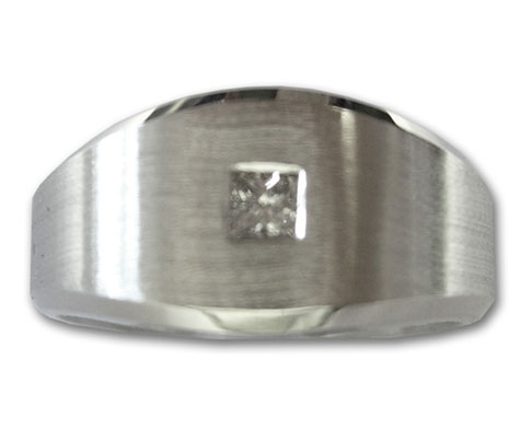 Men's Diamond Ring 14K White Gold 0.22 cts. 6J6863