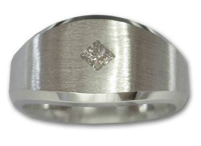 Men's Diamond Ring 14K White Gold 0.22 cts. 6J6864