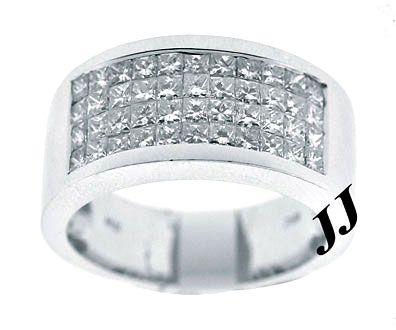 Men's Diamond Band 14K White Gold 1.80 cts. 6JTI564