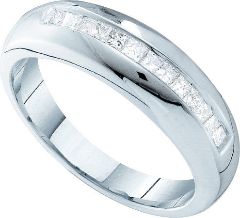 Men's Diamond Ring 14K White Gold 0.50 cts. GD-10817