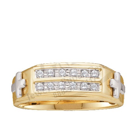 Men's Diamond Ring 10K Yellow Gold 0.15 cts. GD-11242