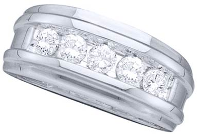 Men's Diamond Ring 14K White Gold GD-11403