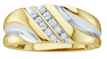 Men's Diamond Ring 10K Gold 0.12 cts. GD-15687