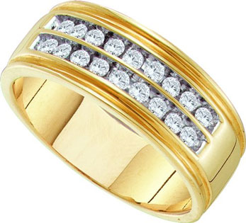 Men's Diamond Ring 10K Yellow Gold 0.50 cts. GD-58803