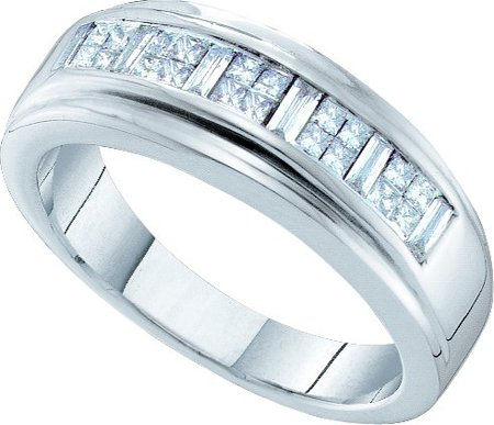 Men's Diamond Ring 14K White Gold 0.50 cts. GD-19655