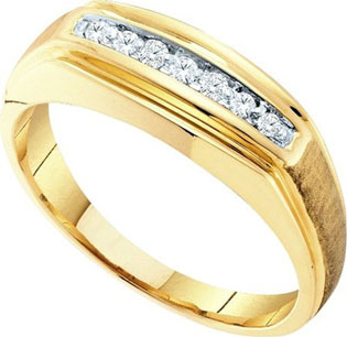 Men's Diamond Ring 10K Yellow Gold 0.15 cts. GD-23220