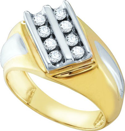 Men's Diamond Cluster Ring 10K Yellow Gold 0.50 cts. GD-26430