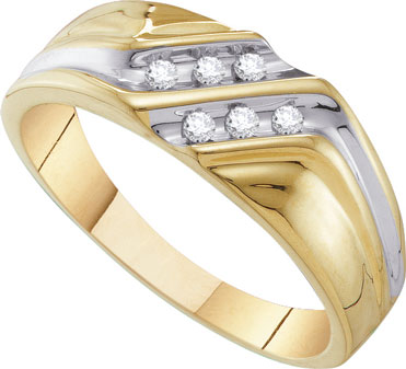 Men's Diamond Ring 10K Yellow Gold 0.12 cts. GD-26571