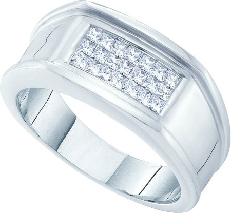 Men's Diamond Ring 14K White Gold 0.50 cts. GD-30357