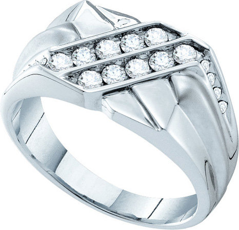 Men's Diamond Ring 14K White Gold 0.60 cts. GD-39285