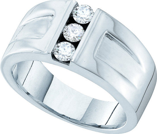 Men's Diamond Ring 14K White Gold 0.50 cts. GD-39941
