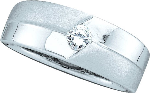 Men's Diamond Ring 14K White Gold 0.25 cts. GD-40258