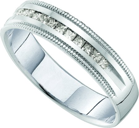 Men's Diamond Ring 14K White Gold 0.25 cts. GD-40770