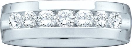 Men's Diamond Ring 14K White Gold GD-40782