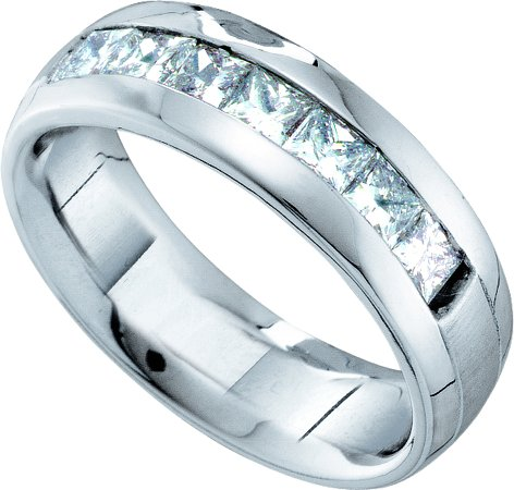 Men's Diamond Ring 14K White Gold 1.50 cts. GD-40922