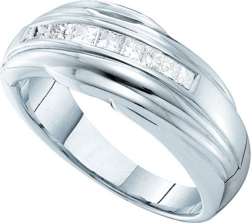 Men's Diamond Ring 14K White Gold 0.50 cts. GD-41695