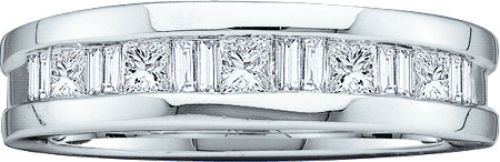 Men's Diamond Ring 14K White Gold 1.00 ct. GD-42307