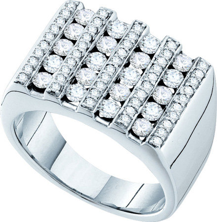 Men's Diamond Ring 14K White Gold 1.50 cts. GD-53716