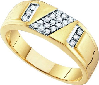 Men's Diamond Ring 10K Gold 0.25 cts. GD-54991