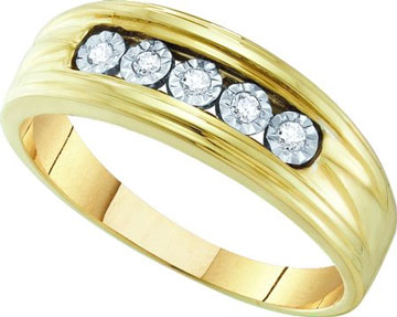Men's Diamond Ring 10K Yellow Gold 0.10 cts. GD-55539