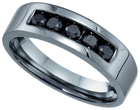 Men's Diamond Ring 10K White Gold 0.62 cts. GD-81818
