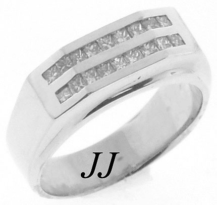 Men's Diamond Ring 14K White Gold 0.95 cts. MRX-170
