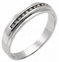Men's Diamond Ring 14K White Gold 0.25 cts. MSD-184