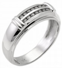 Men's Diamond Ring 14K White Gold 0.70 cts. MSD-207