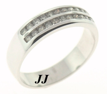 Men's Diamond Ring 14K White Gold 0.80 cts. MSD-504