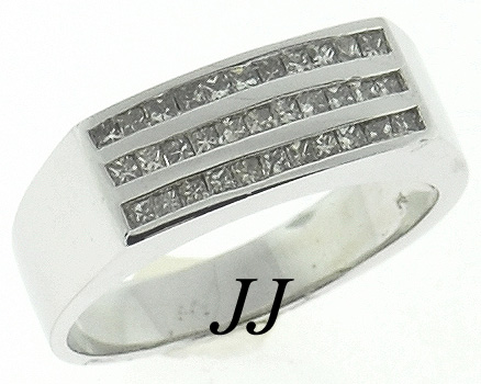 Men's Diamond Ring 14K White Gold 1.15 cts. MRX-165