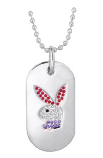 Playboy® Authentic Red-White-Blue Dog Tag CPBN151RWB