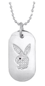 Playboy® Authentic White Dog Tag CPBN151W
