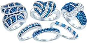 Blue Diamond Fashion Rings Blue Diamond Fashion Rings