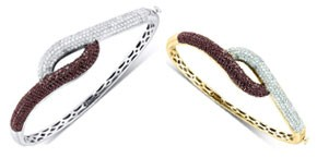 Cognac Diamond Bangles