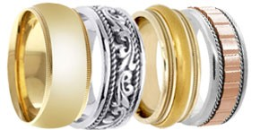 Designer Gold Bands