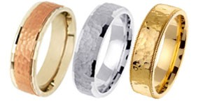 Gold Wedding Bands Designer White Yellow Two Tone Tri Color