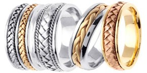 Hand Braided Gold Bands